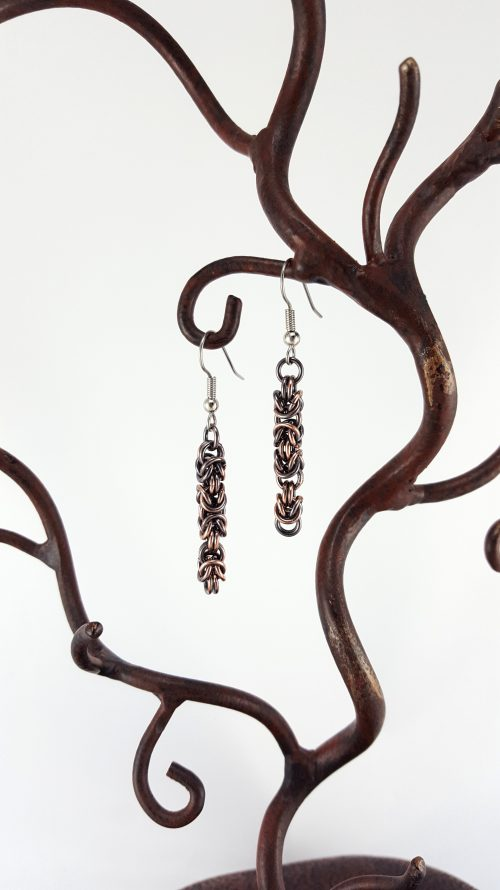 Copper Byzantine Chain Earrings
