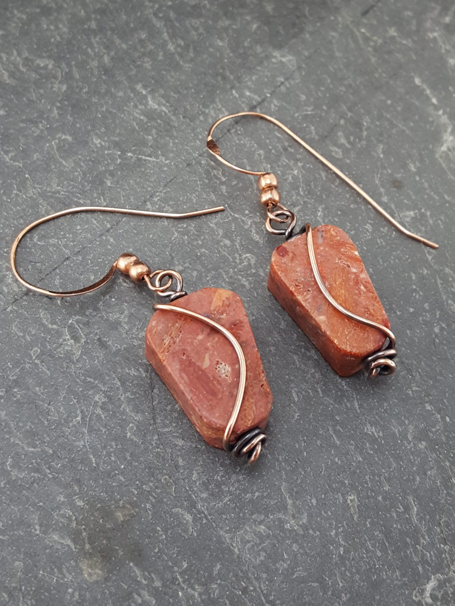 Sponge Coral and Copper Wire – Extraversions Jewelry by Lalah Manly