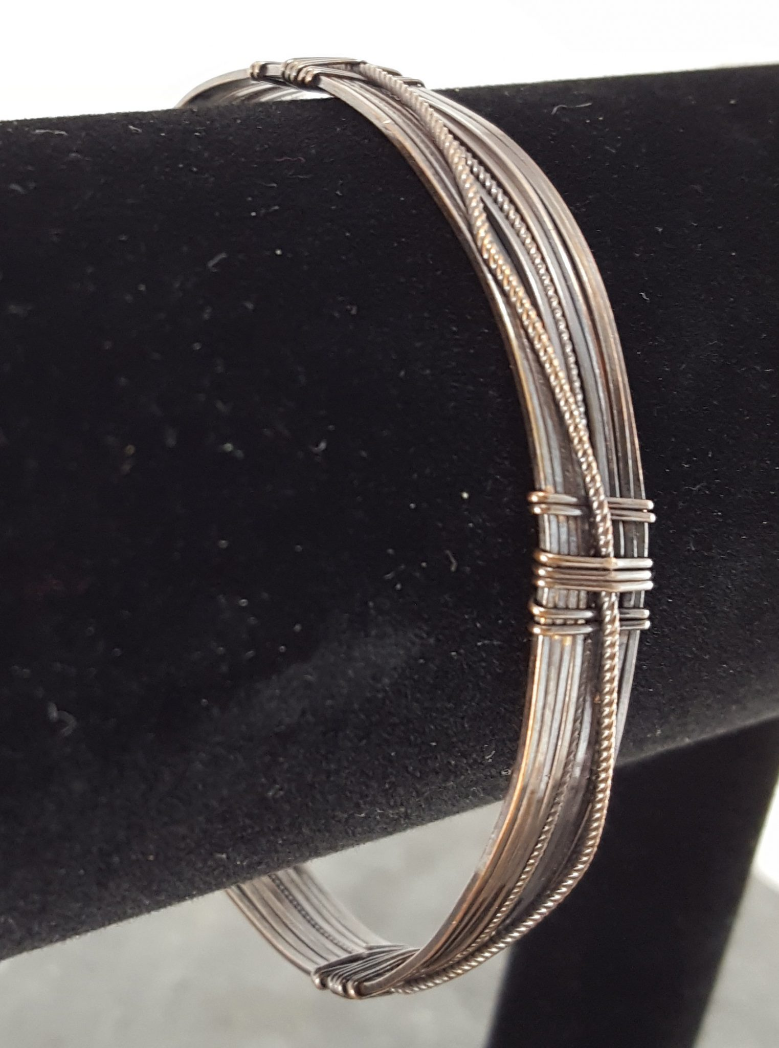 Copper Wire Bangle with Textured Wire for Ornamentation ...