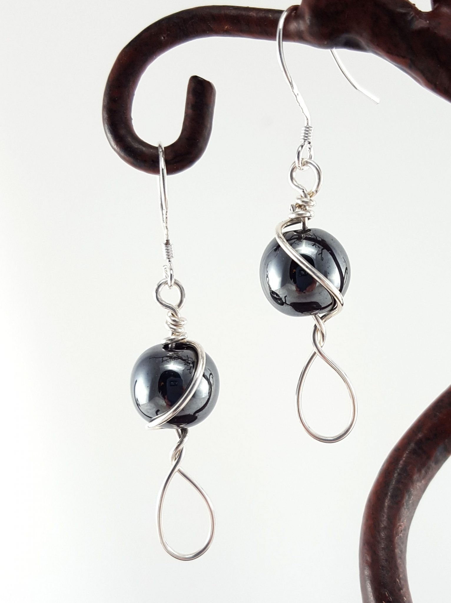 earrings shop hem hematite skye