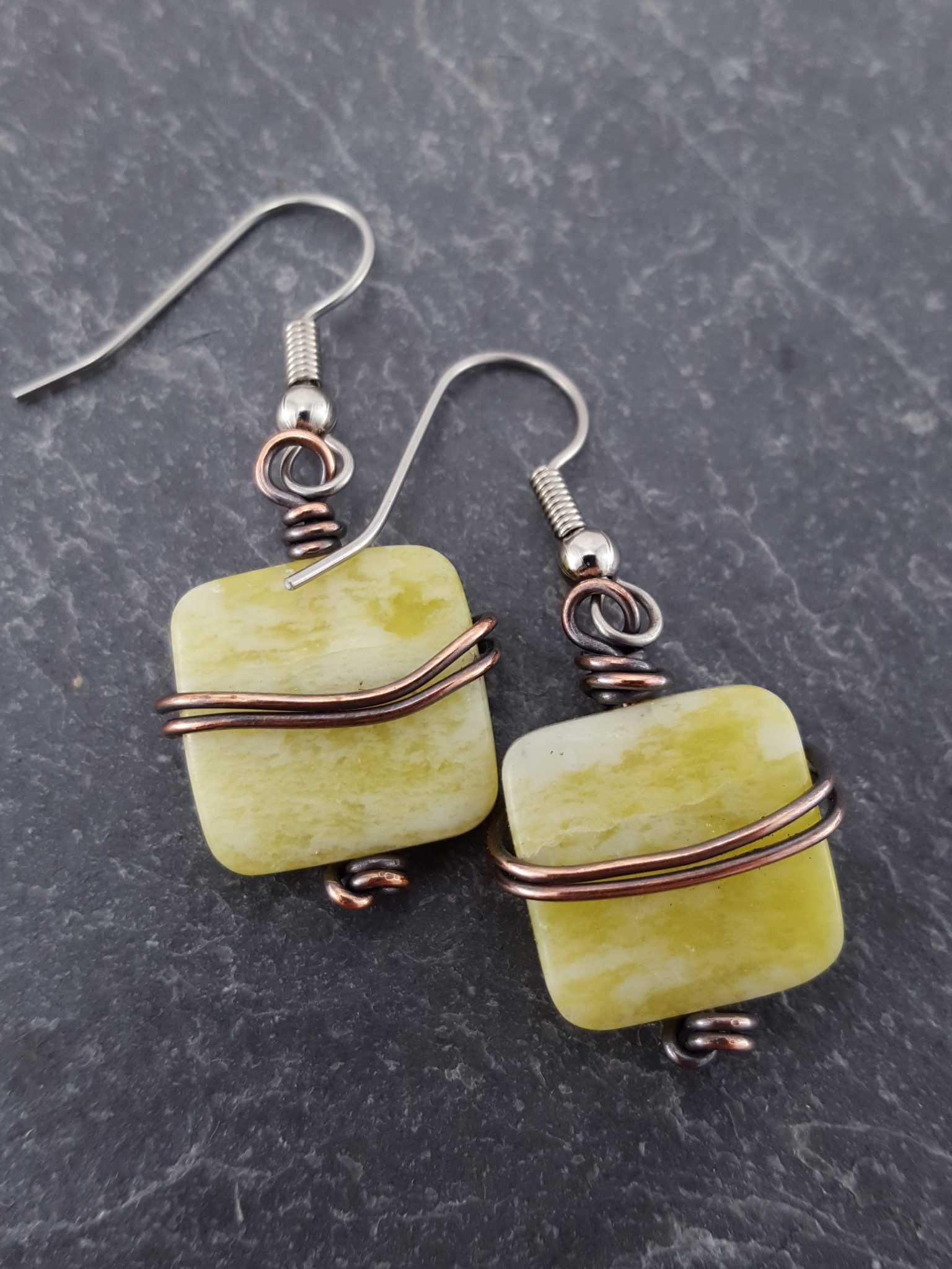 Lemon Jade with Copper Wire Belt – Extraversions Jewelry by Lalah Manly
